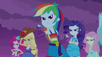 обоя мультфильмы, my little pony, персонажи