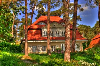 Картинка германия плау ам зее города здания дома дом цветы деревья