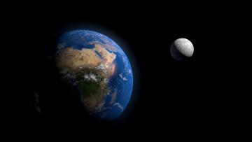Картинка космос земля луна