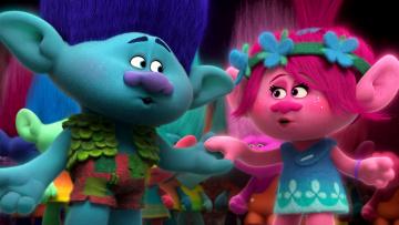 обоя мультфильмы, trolls, мордочки, мультик, забавные, тролли, персонажи