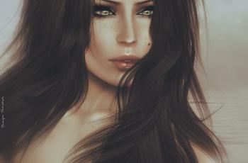 Картинка 3д графика portraits портрет волосы