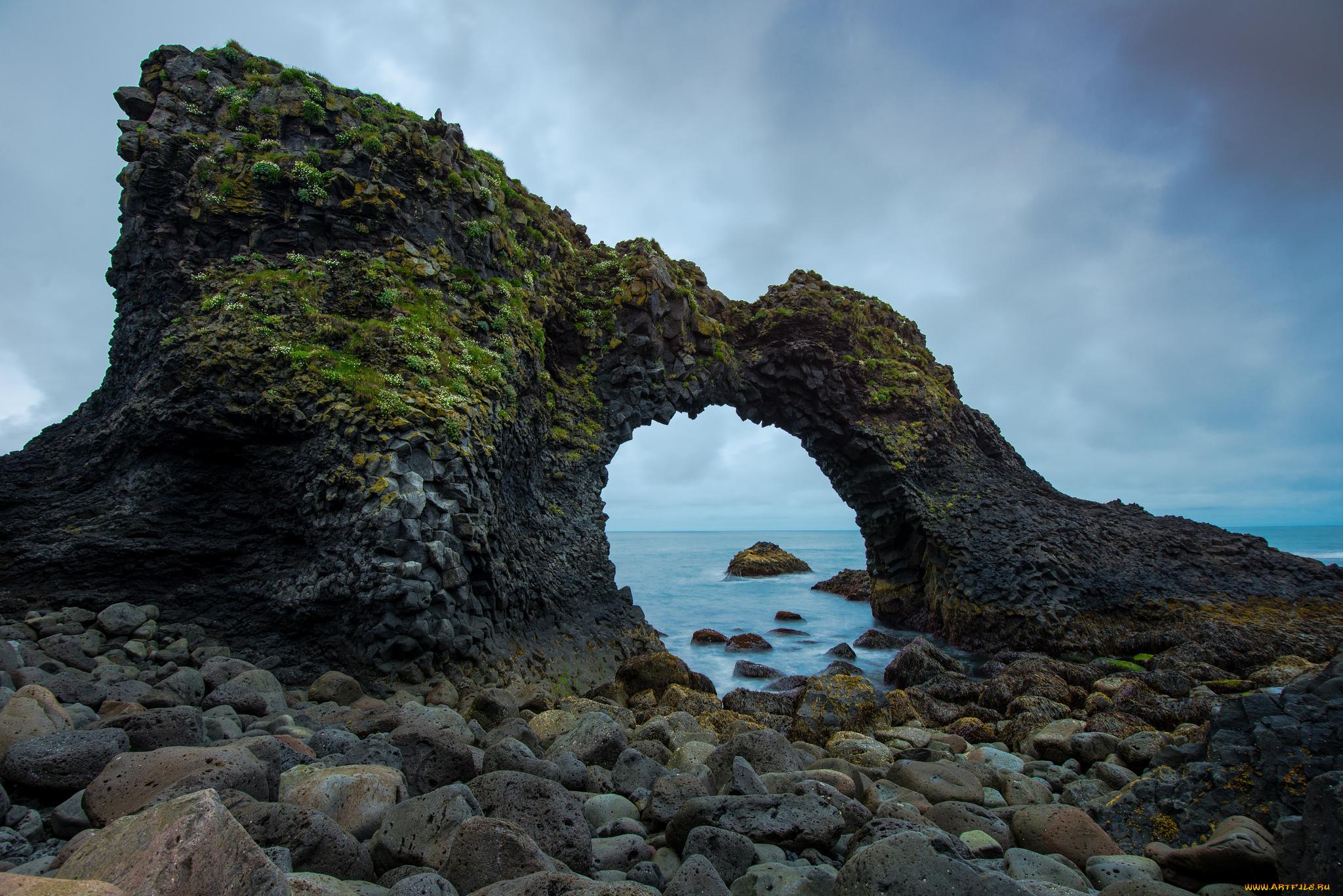 арка скалы море небо  № 2842045 загрузить