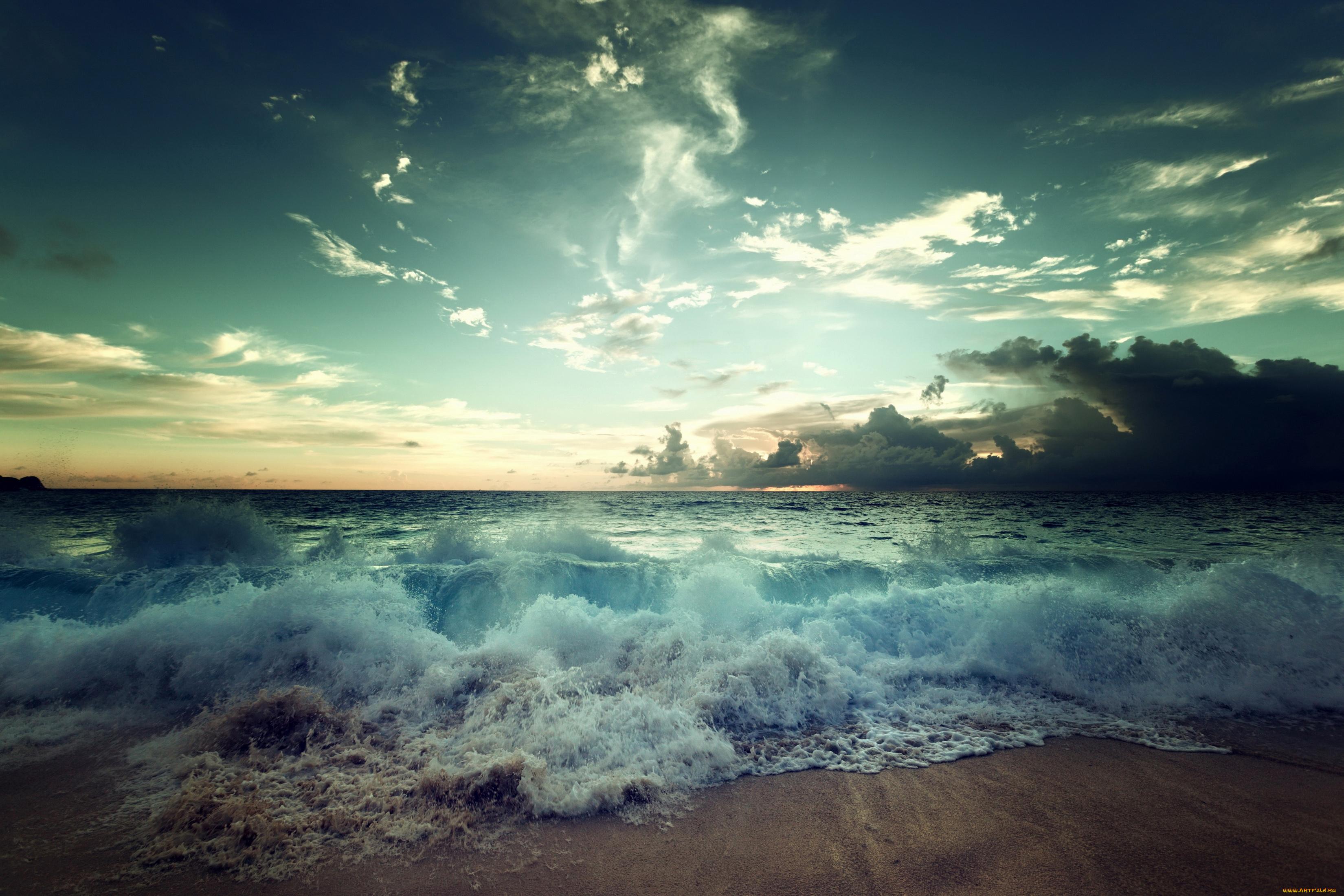 волна небо море загрузить