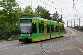 Картинка техника трамваи трамвай рельсы город