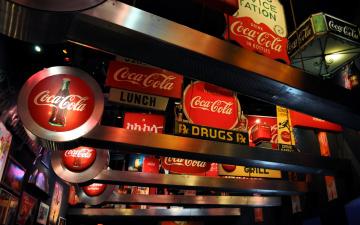 обоя бренды, coca-cola, вывески