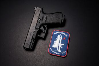 обоя оружие, пистолеты, макро, фон, пистолет, glock, 19