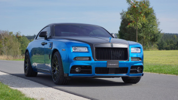 обоя mansory bleurion based on rolls-royce wraith 2015, автомобили, rolls-royce, 2015, wraith, based, bleurion, mansory