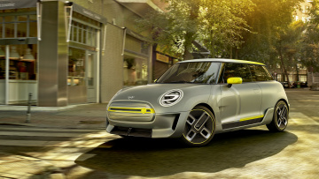 обоя mini electric concept 2018, автомобили, mini, 2018, concept, electric