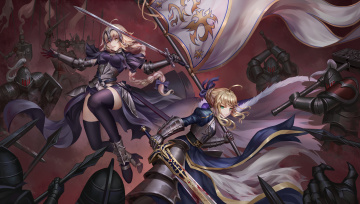 Картинка аниме fate stay+night jeanne d'arc saber