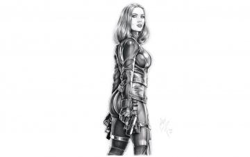 обоя рисованное, комиксы, девушка, амуниция, оружие