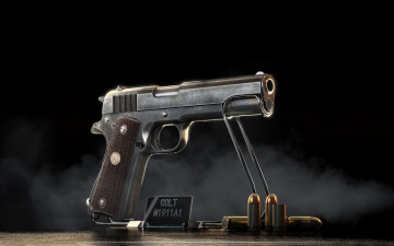 Картинка оружие пистолеты кольт патроны