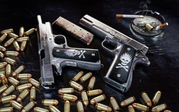 Картинка оружие пистолеты патроны кольт