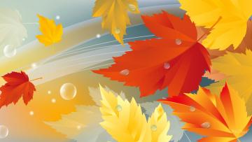 обоя векторная графика, природа , nature, природа, осень, коллаж, листья