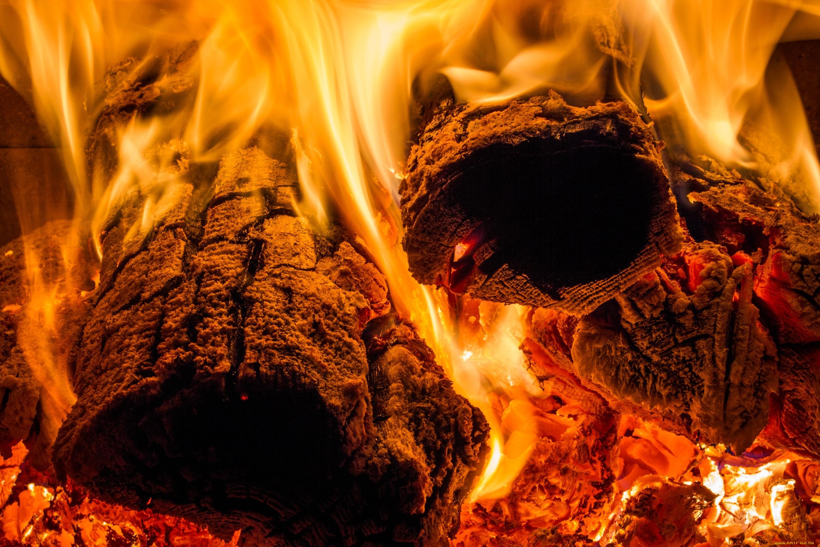 костер огонь пламя без смс