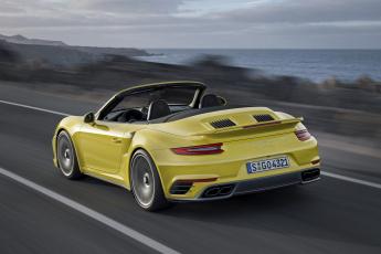 Картинка автомобили porsche 991 s coupe turbo 911 желтый 2016г