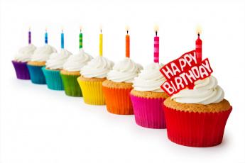 Картинка еда пирожные +кексы +печенье поздравление кексы свечи