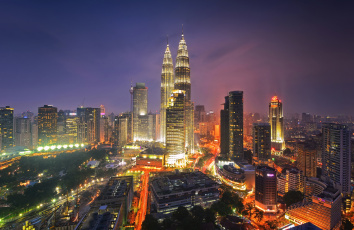 Картинка kuala+lumpur города куала-лумпур+ малайзия близнецы башни