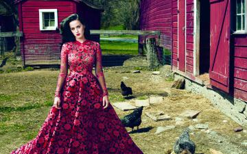 обоя музыка, katy perry, роскошное, платье