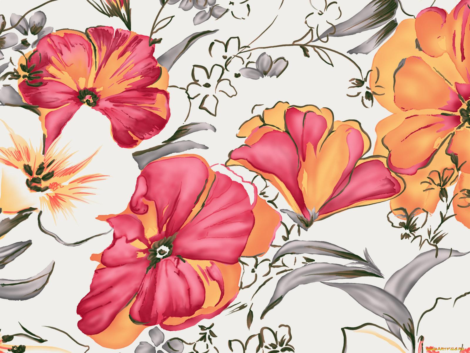 Картинки, открытки рисовать цветы