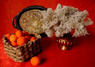 Картинка еда цитрусы мандарины натюрморт поднос