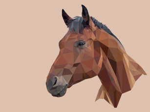 обоя векторная графика, животные , animals, фон, лошадь