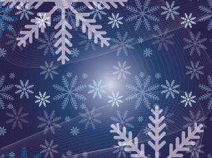 обоя векторная графика, природа , nature, снежинки, цвета, фон, узор