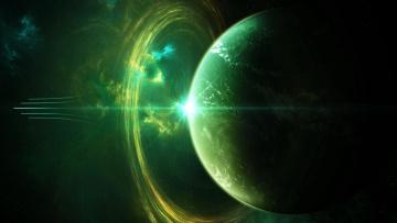 обоя космос, арт, вселенная, планета, галактика