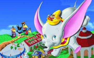 обоя мультфильмы, dumbo, слон