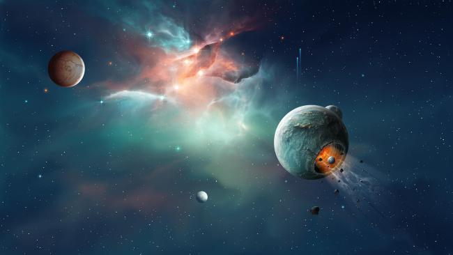Обои картинки фото космос, арт, галактика, вселенная, планета