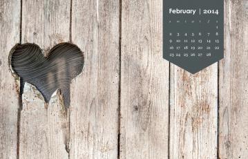 обоя календари, -другое, сердечко
