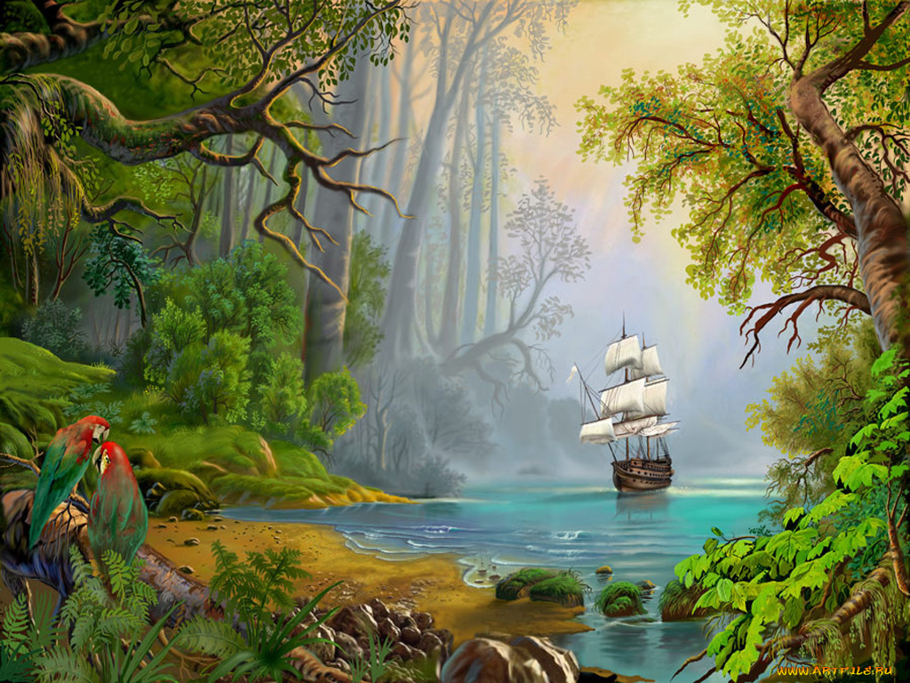 Природа рисунки и открытки