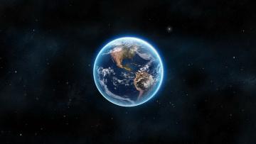 Картинка космос земля планета фон