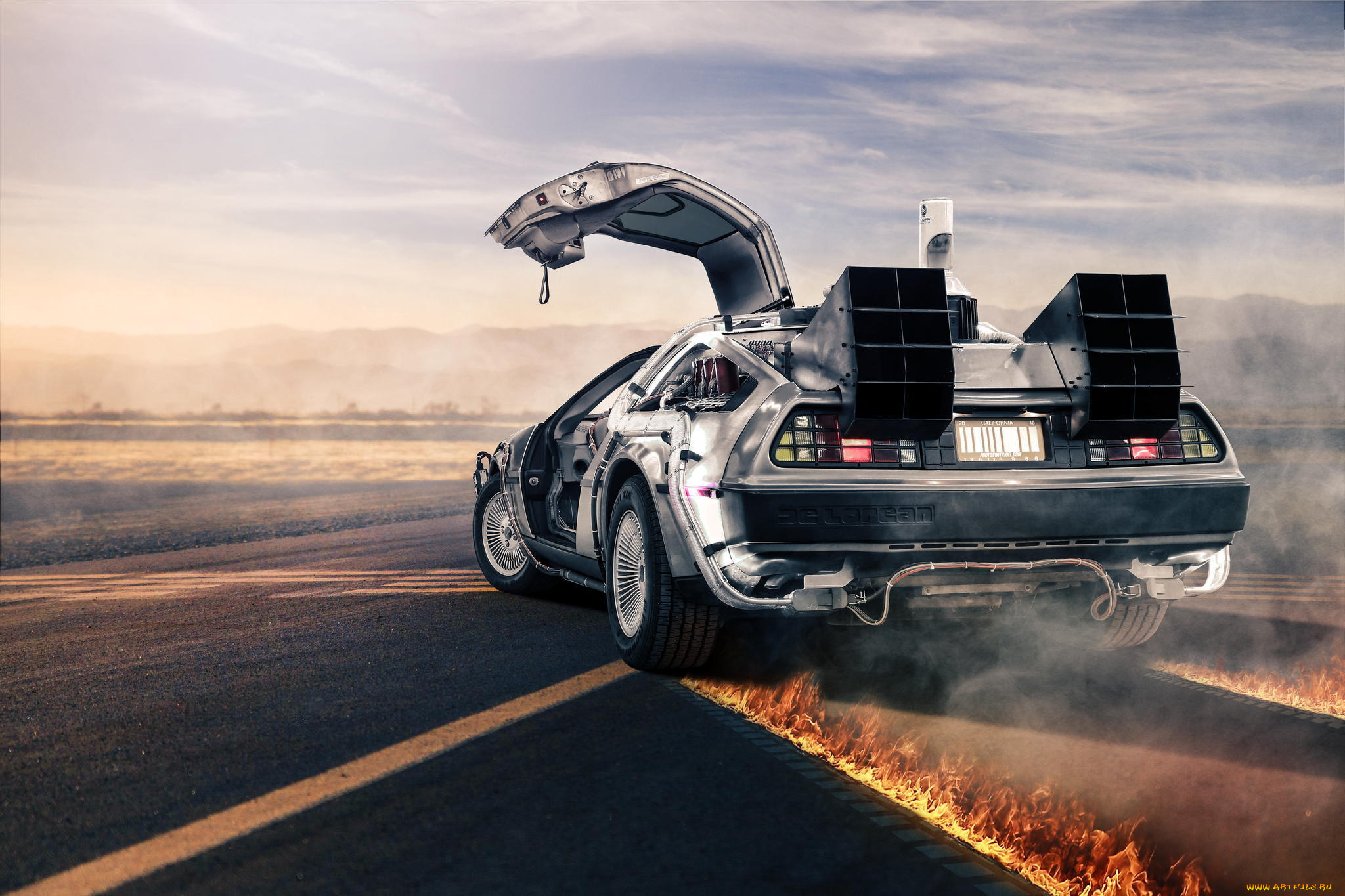 кино, фильмы, back, to, the, future, delorean
