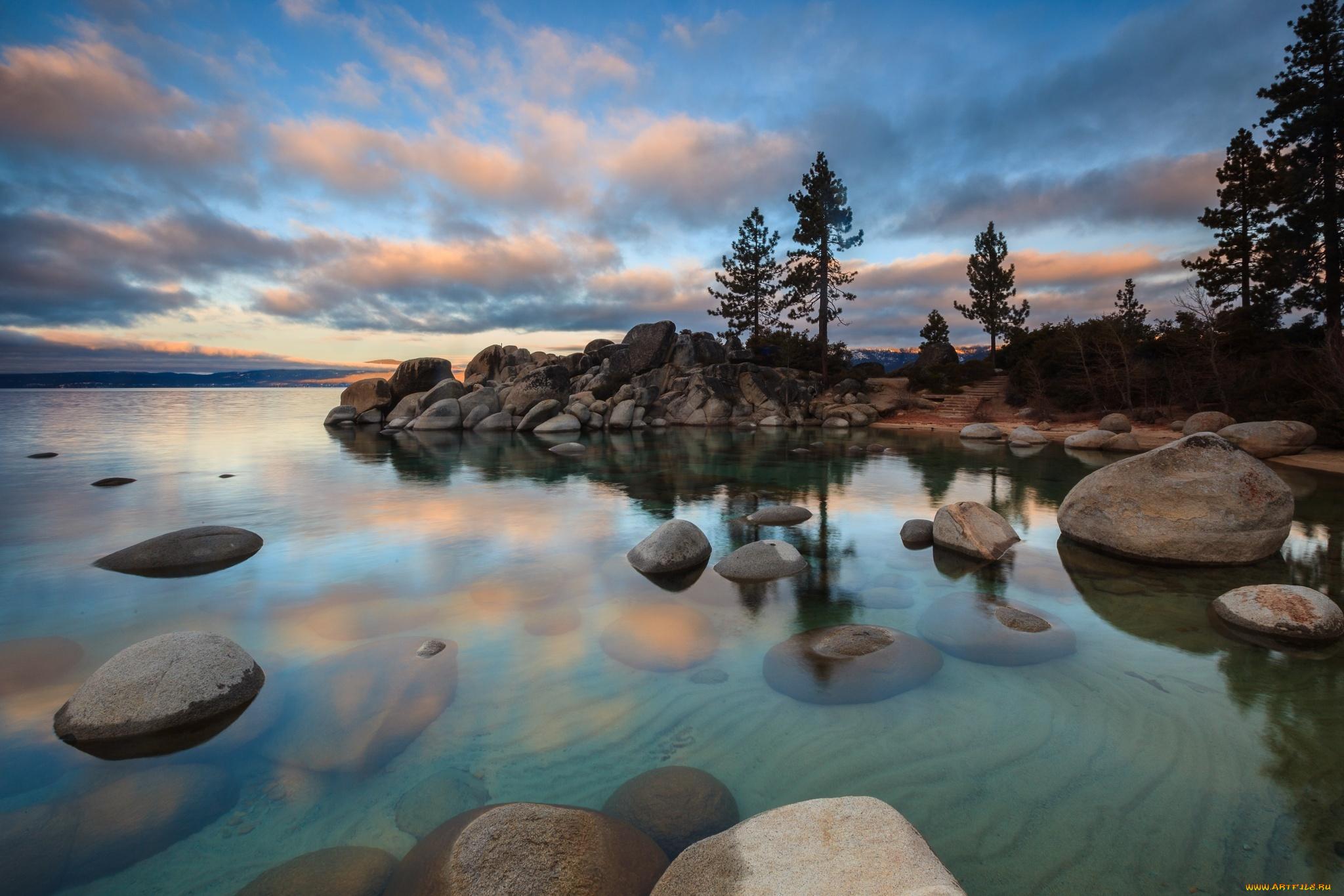озеро камни берег загрузить