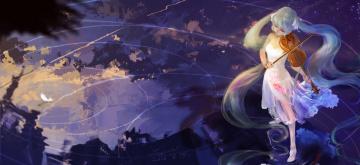 Картинка аниме vocaloid девушка