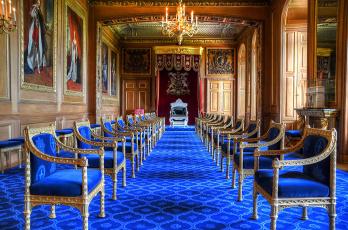обоя sala del trono della giarrettiera, интерьер, дворцы,  музеи, тронный, зал