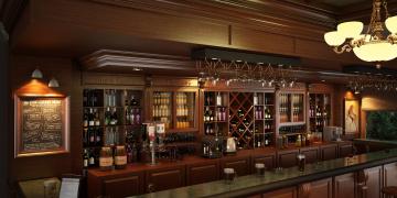 Картинка интерьер кафе +рестораны +отели светильник напитки пиво бокалы полки