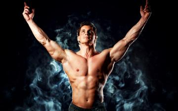 Картинка мужчины -+unsort дым мускулы тело парень