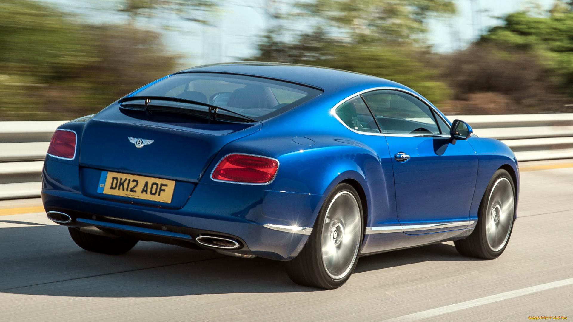 синий автомобиль Continental GT Speed скачать