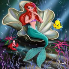 Картинка мультфильмы the little mermaid рыбы русалка