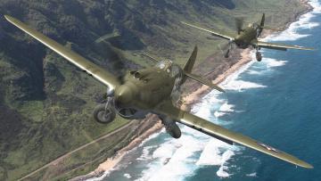 Картинка авиация 3д рисованые graphic пара сша ввс истребители шасси горы пляж берег