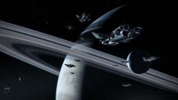 Картинка космос арт планета мереориты
