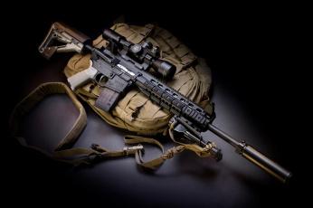 Картинка оружие автоматы глушитель m4 сумка полумрак апгрейд автомат larue tactical