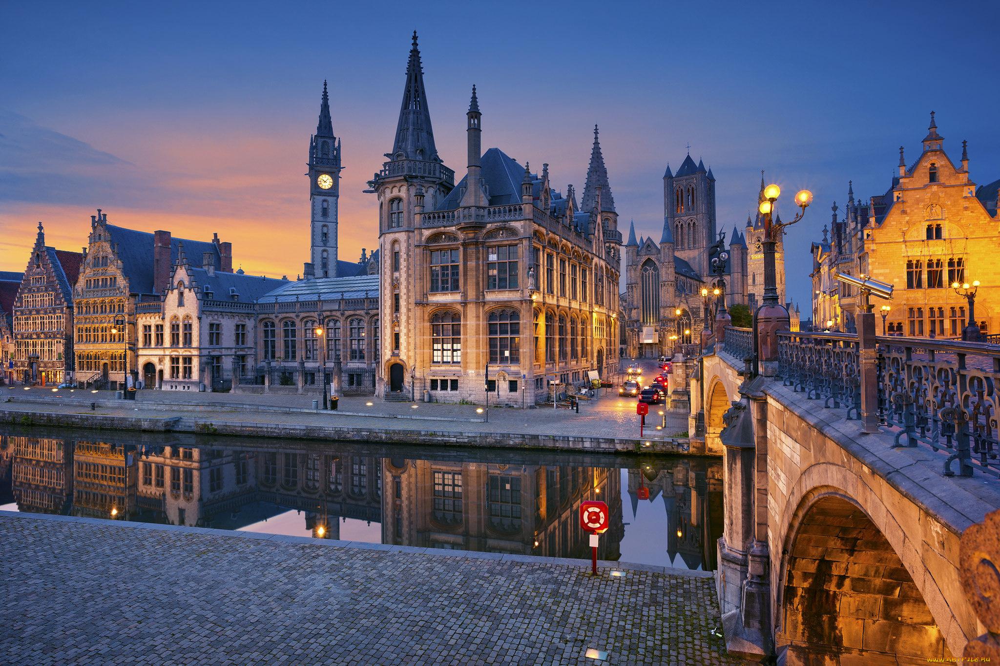 страны архитектура река Бельгия Брюгге  № 1730879  скачать