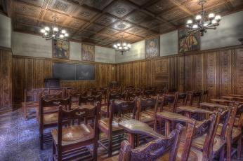 Картинка yugoslav+room интерьер убранство +роспись+храма комната собор кампус