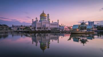 Картинка sultan+omar+ali+saifuddin+mosque города -+мечети +медресе мечеть