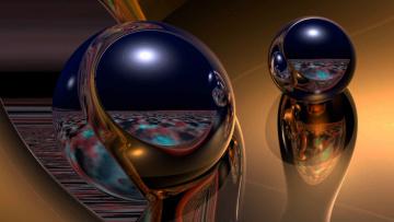 обоя 3д графика, абстракция , abstract, блеск, шары