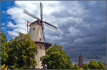 Картинка разное мельницы облака мельница