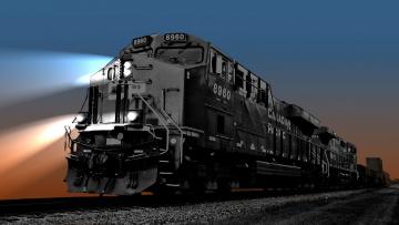 Картинка техника поезда дорога железная состав рельсы локомотив
