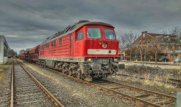 Картинка техника поезда состав дорога железная локомотив рельсы